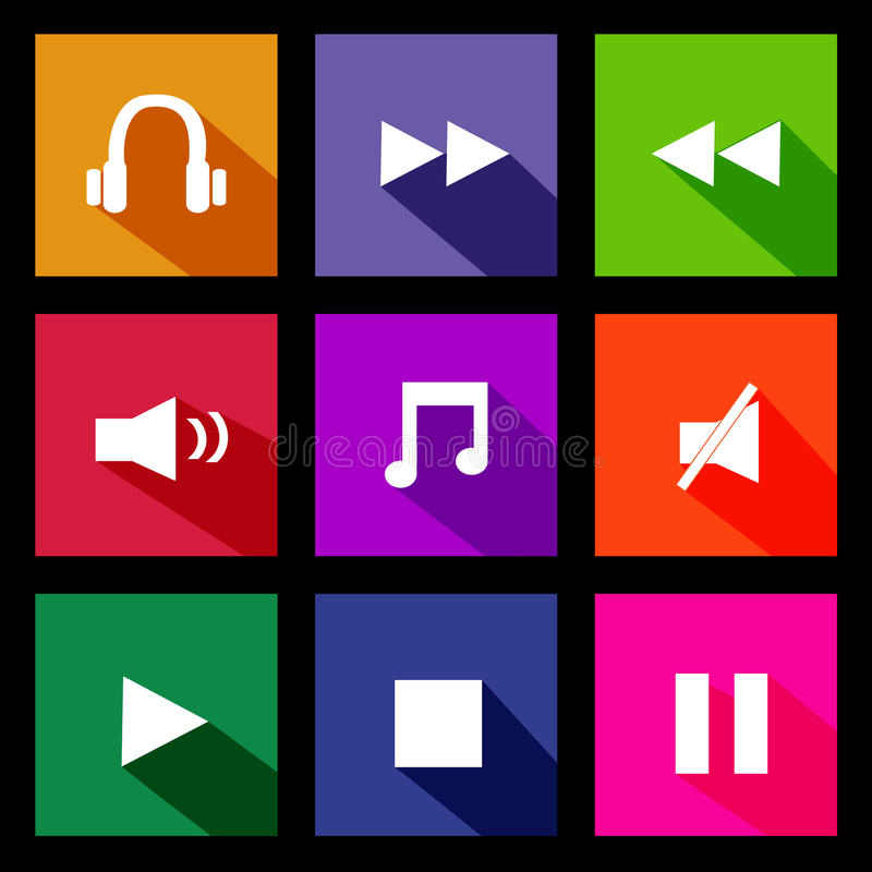 Download Audio Metro Icons Stock Image - Image: 38164241