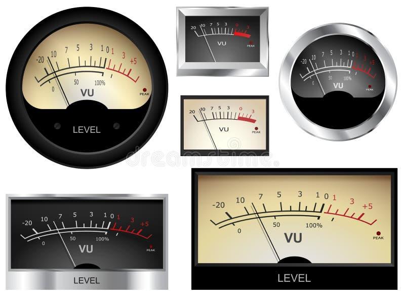 Audio metry ilustracja wektor