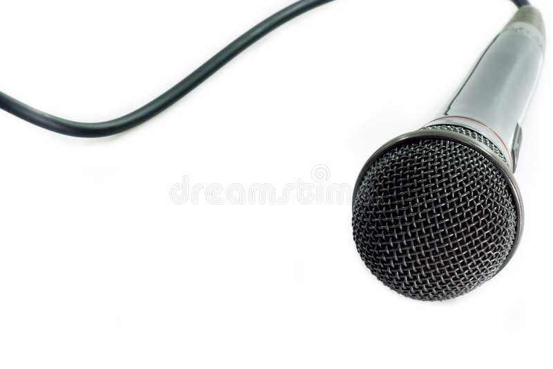 Audio microphone stock photography