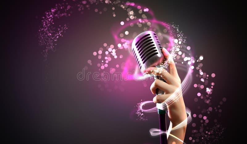Audio mikrofonu retro styl zdjęcia royalty free
