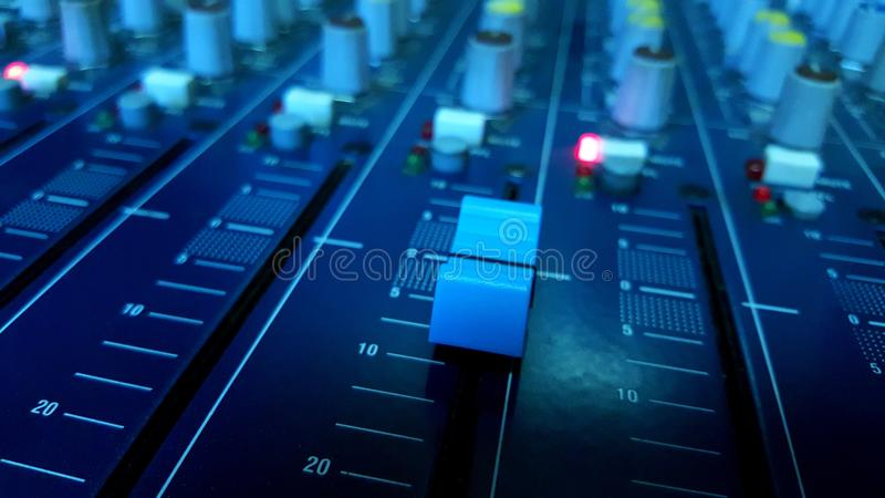 Audio mikser obraz royalty free