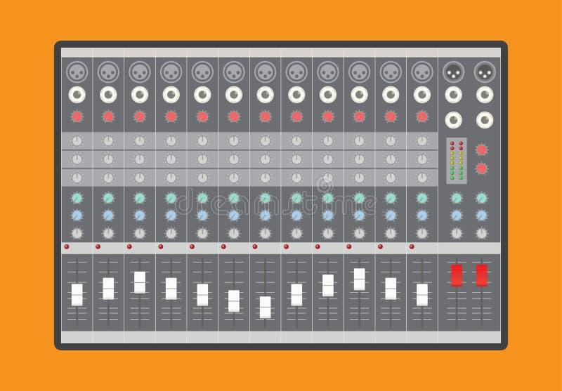 Audio miscelatore analogico illustrazione vettoriale