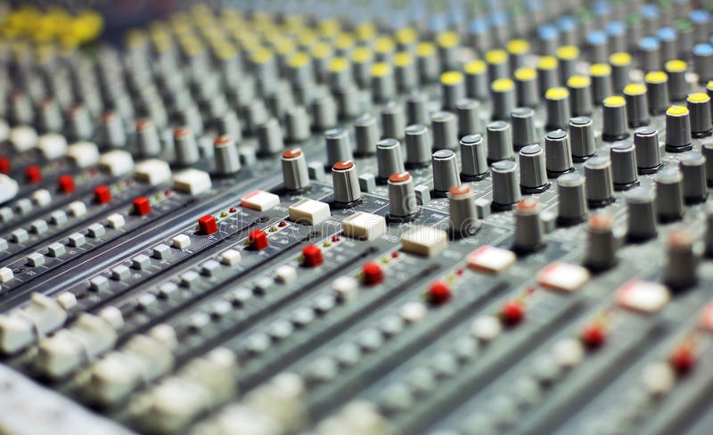 Download Audio mixer stock image. Image of club, hear, channel - 25900579