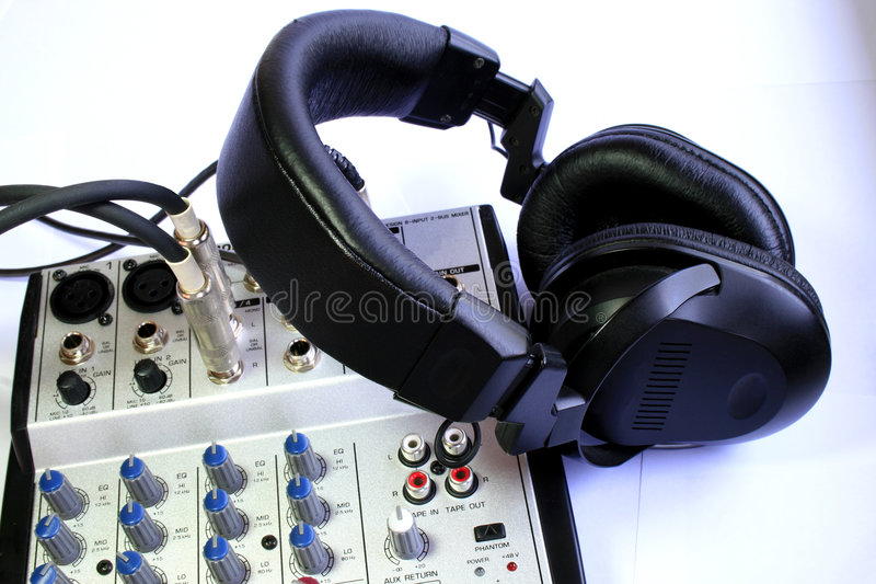 Download Audio mixer stock photo. Image of earphone, preamplifier - 4990918