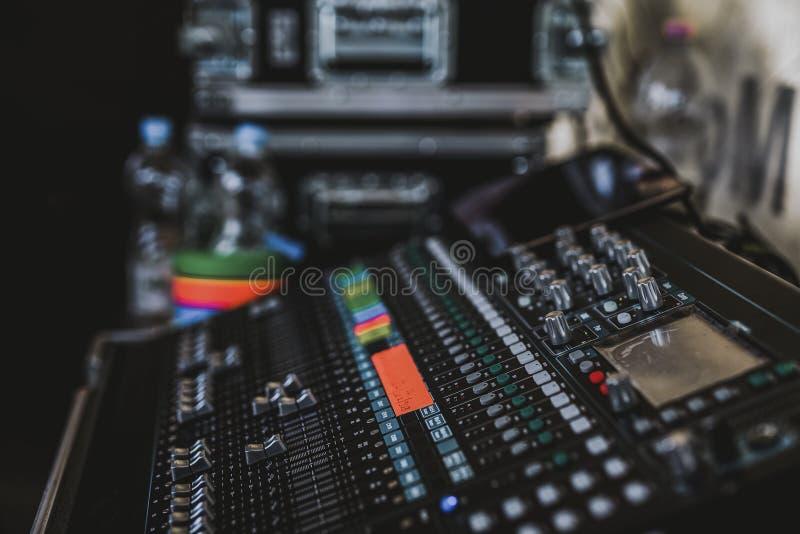 Audio, Mixer, Bass stock photo