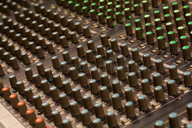 Download Audio mixer detail stock photo. Image of detail, mixer - 24583030