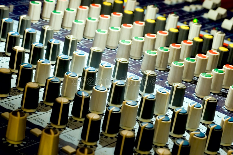 Download Audio mixing board stock image. Image of equalization - 1155719
