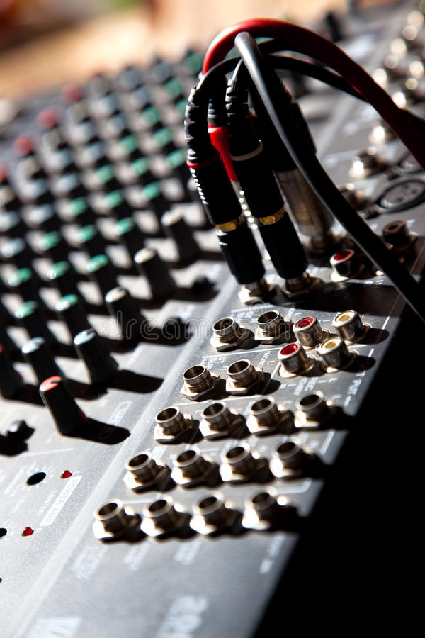 Download Audio Mixing Panel Stock Photo - Image: 12700540