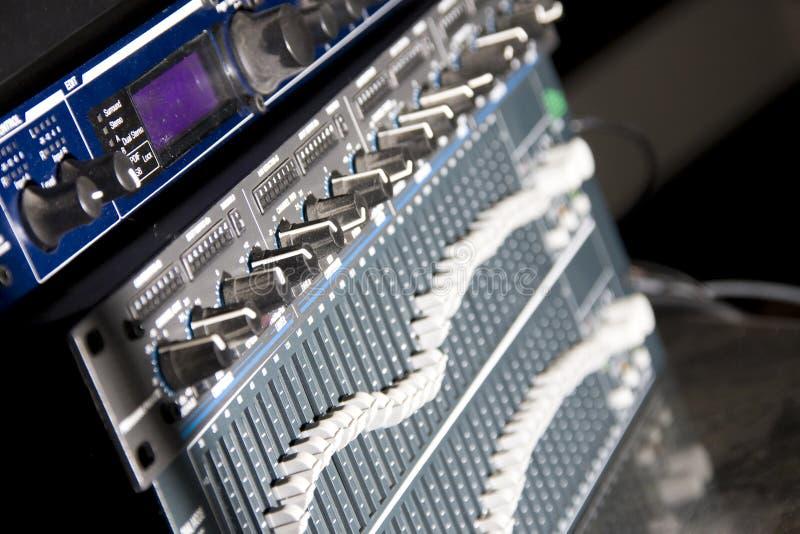 Download Audio mixing panel stock image. Image of horizontal, communication - 15053141