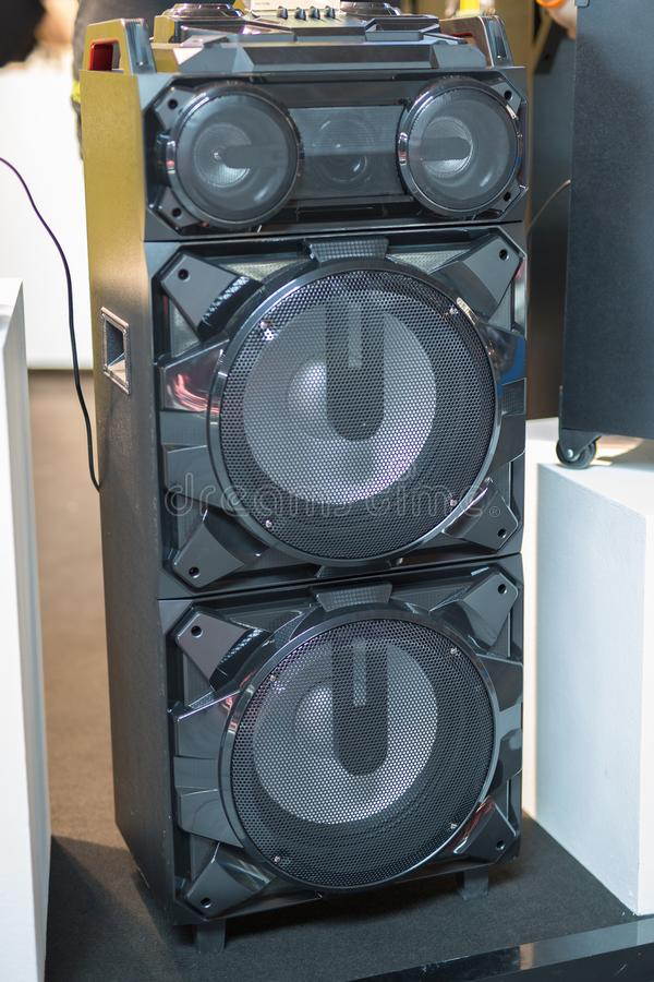 Audio Music Equipment: Sound System Speakers Technology stock photo