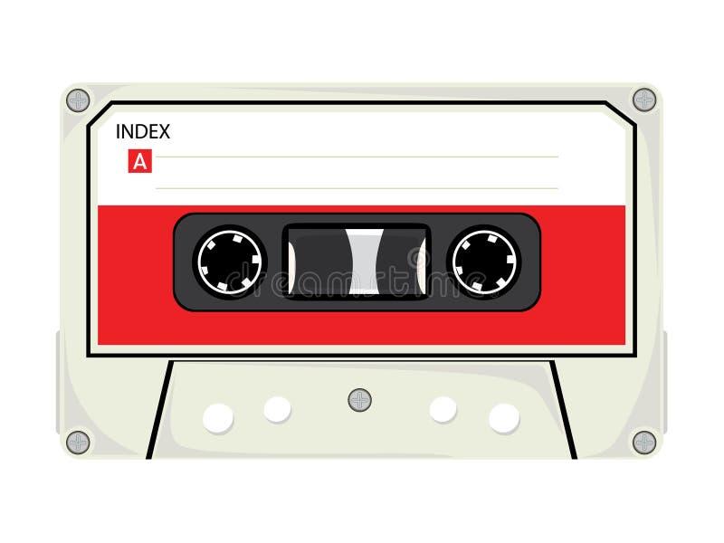 Audio nastro a cassetta illustrazione di stock