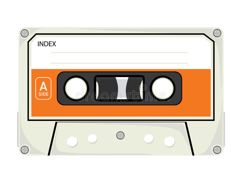 Audio nastro a cassetta royalty illustrazione gratis