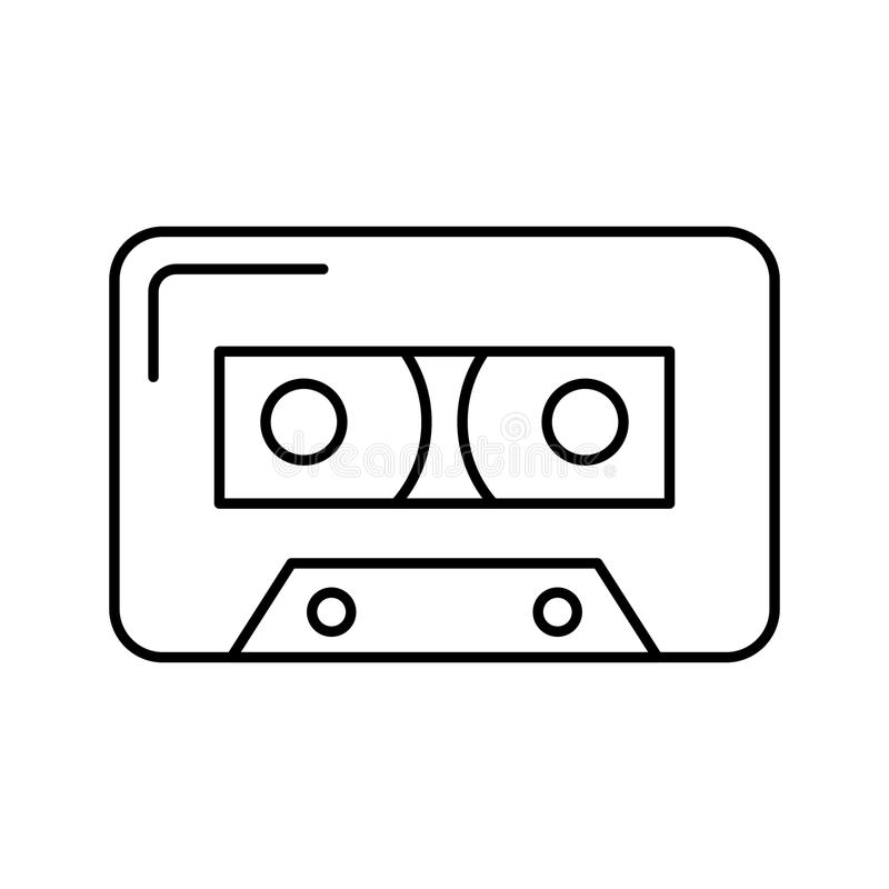 Audio nastro a cassetta isolato illustrazione vettoriale