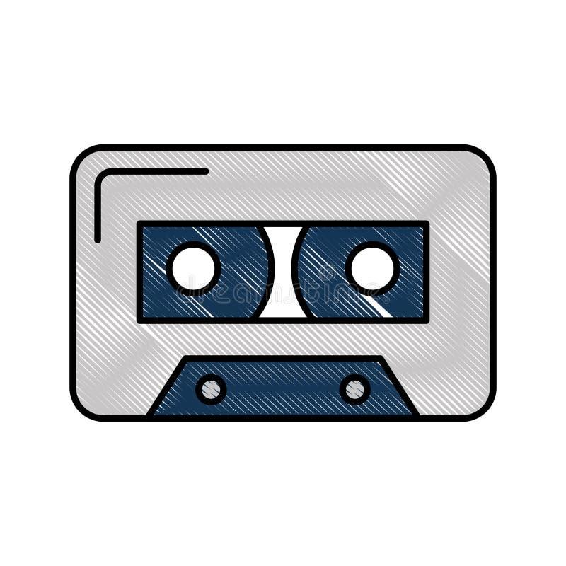 Audio nastro a cassetta isolato illustrazione di stock