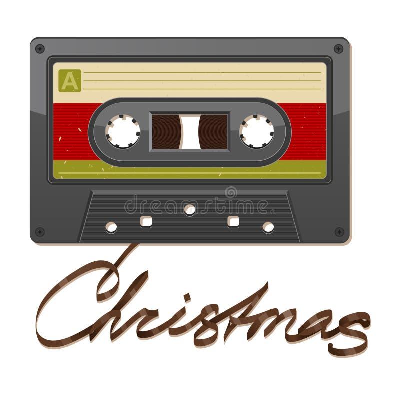 Audio nastro a cassetta. Natale royalty illustrazione gratis