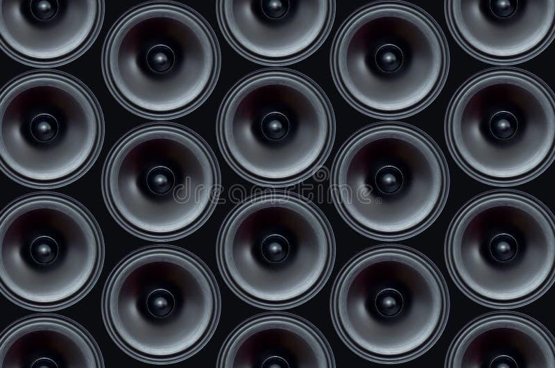Audio speaker pattern stock photography