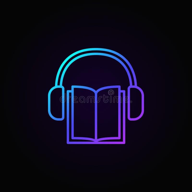 Audio pojęcia książkowa ikona ilustracja wektor