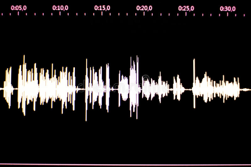 Audio pracowniany głos nagrywa rozsądną fala zdjęcia stock