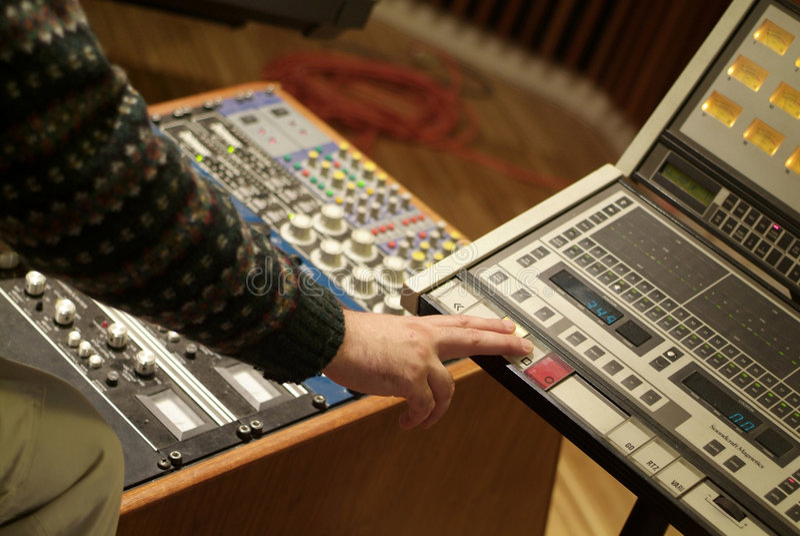 Audio producer stock photo