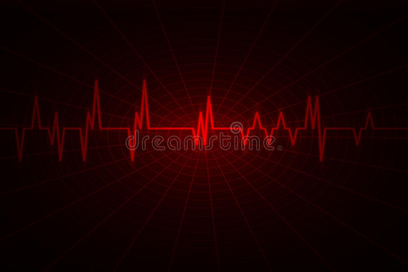 Audio or pulse beat wave vector illustration