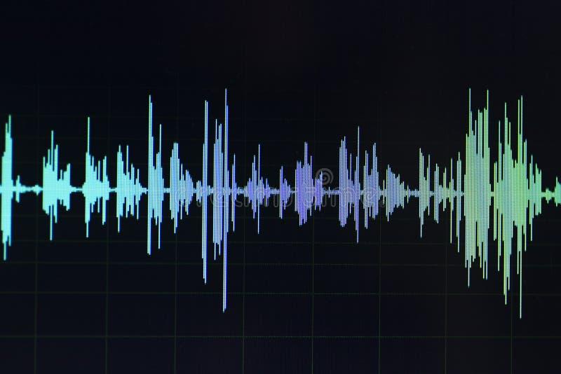 Audio rozsądnej fala pracowniany edytorstwo obraz stock