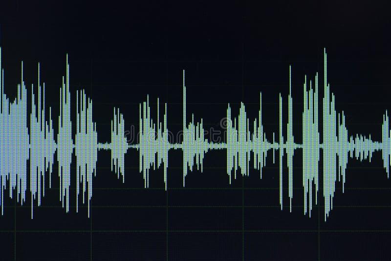 Audio rozsądnej fala pracowniany edytorstwo zdjęcia stock