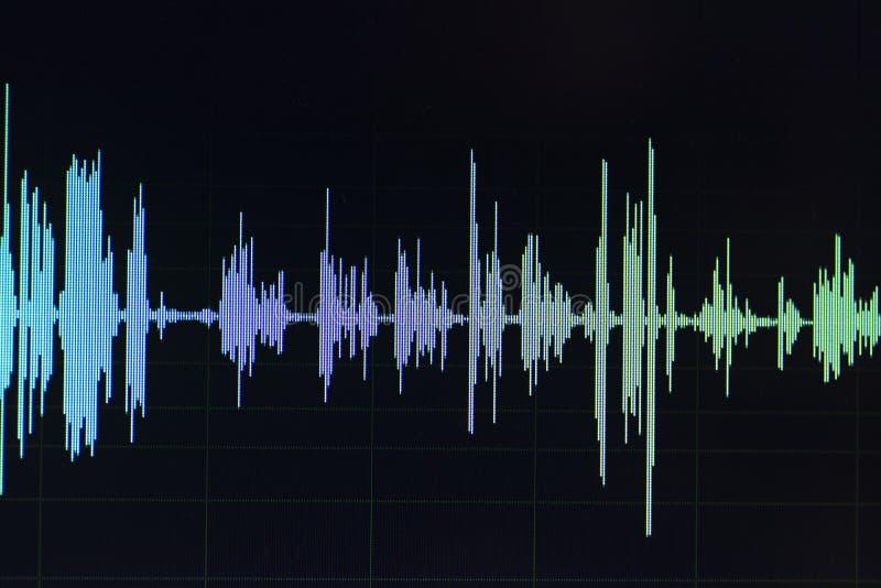 Audio rozsądnej fala pracowniany edytorstwo obrazy stock
