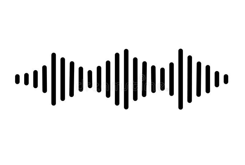 audio signal icon on white background. flat style. sound icon for your web site design, logo, app, UI. sound waves symbol. music stock illustration