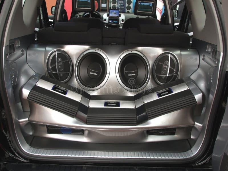 Audio sistema dell'automobile fotografia stock