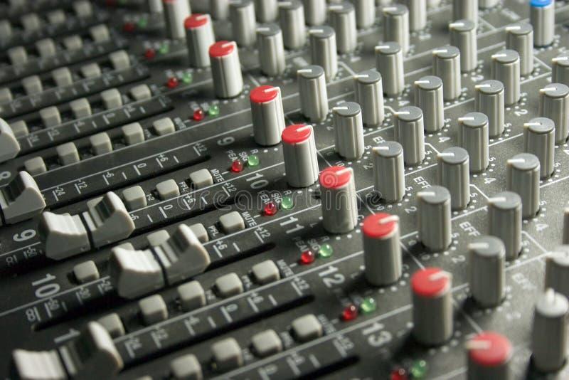 Audio Sound Mixing Board stock photo
