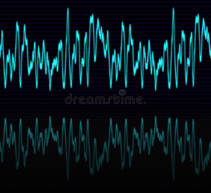 Download Audio or sound sine wave stock illustration. Image of oscillating - 3165535