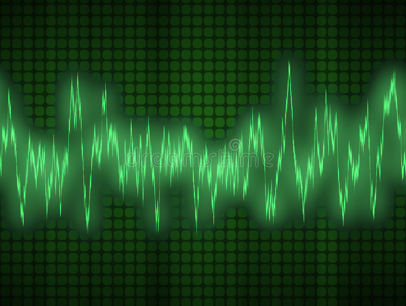 Audio or sound wave royalty free illustration