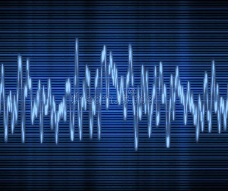Audio or sound wave royalty free illustration
