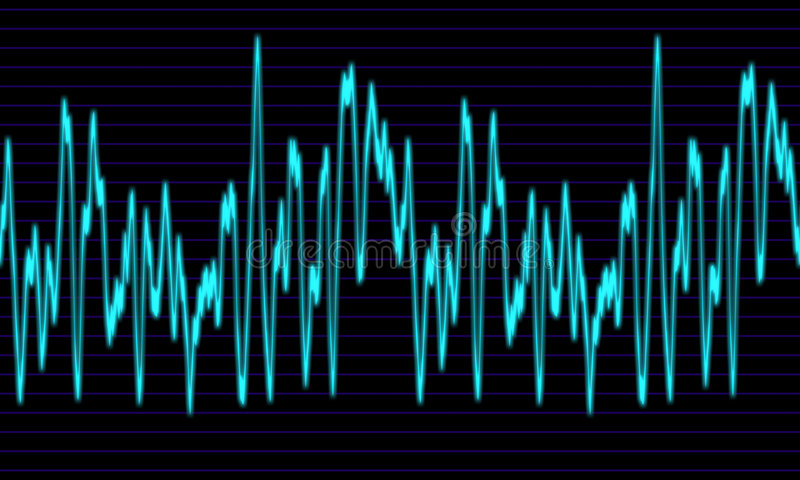 Download Audio or sound wave graph stock illustration. Illustration of high - 3180973