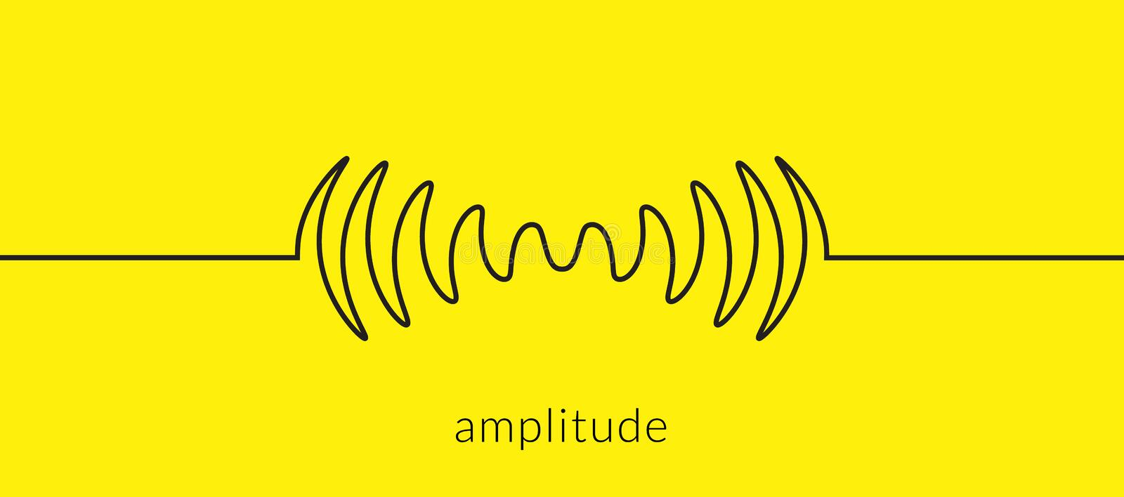 Audio sound wave music waveform. Pulse audio record design signal line.  vector illustration