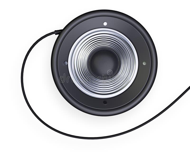 Download Audio speaker stock illustration. Illustration of metallic - 25870807