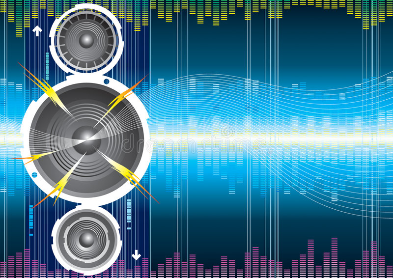 Download Audio speaker wave stock vector. Illustration of abstract - 5117892