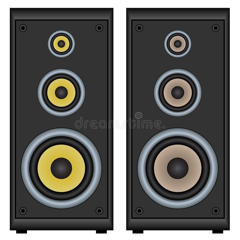 Download Audio speakers stock vector. Image of disco, radio, object - 24648334