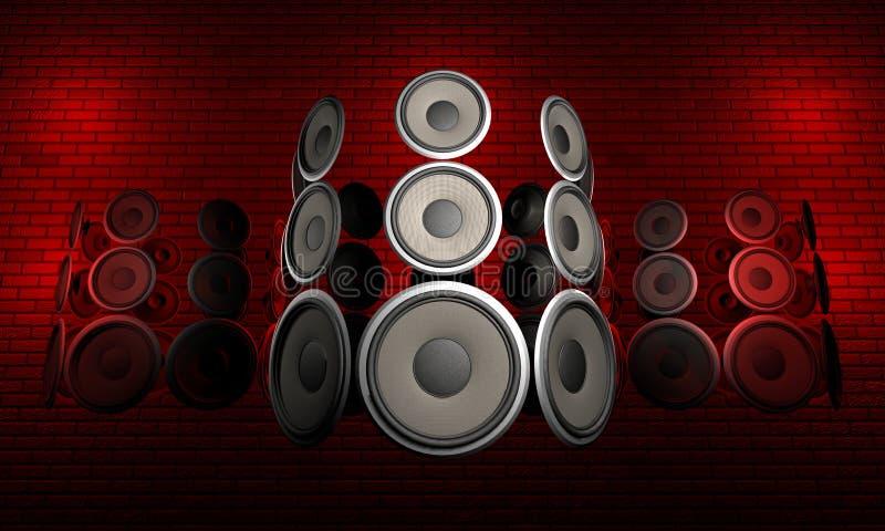Download Audio Speakers stock illustration. Illustration of roll - 3687209