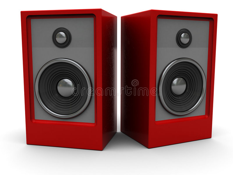 Audio speakers vector illustration