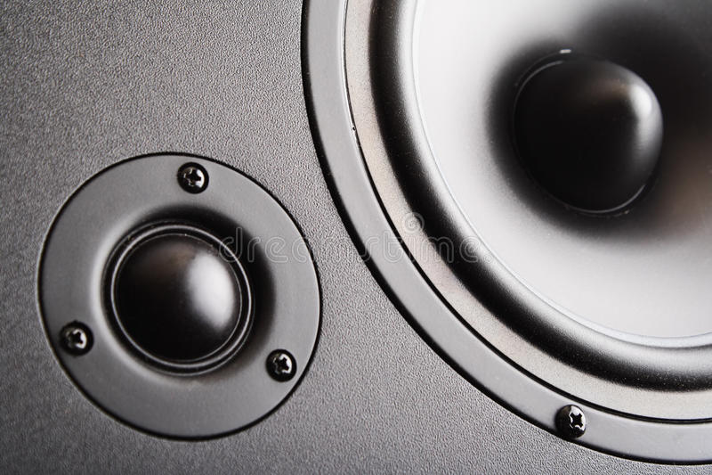 Audio spreker. De muzikale apparatuur royalty-vrije stock afbeelding