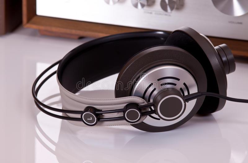 Audio Stereo Headphones Closeup Royalty Free Stock Image