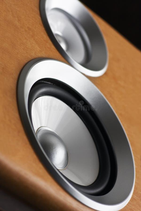 Audio stereo system sound speaker. High fidelity audio stereo system sound speaker royalty free stock image