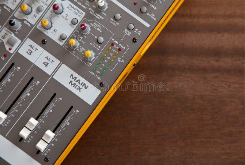 Audio studio sound mixer equalizer board controls stock photos