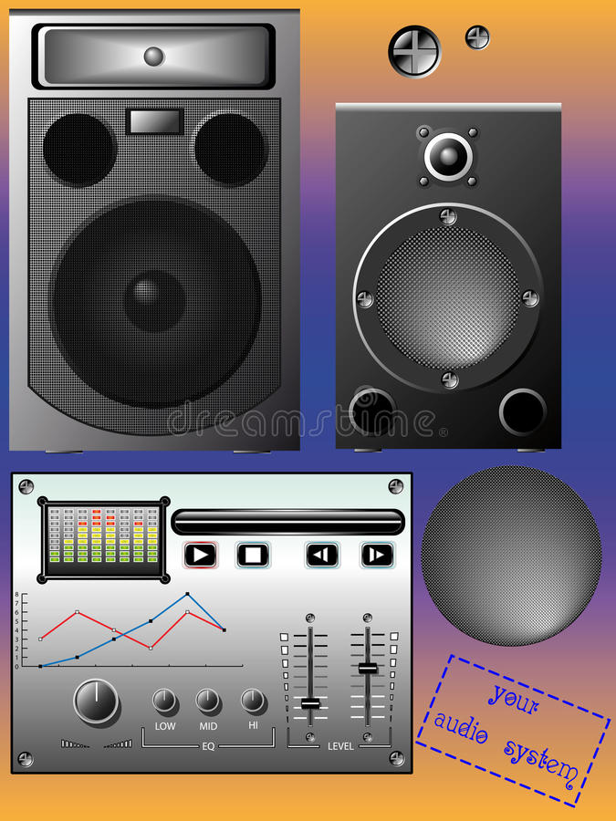 Download Audio system stock vector. Image of audio, characteristics - 24289425