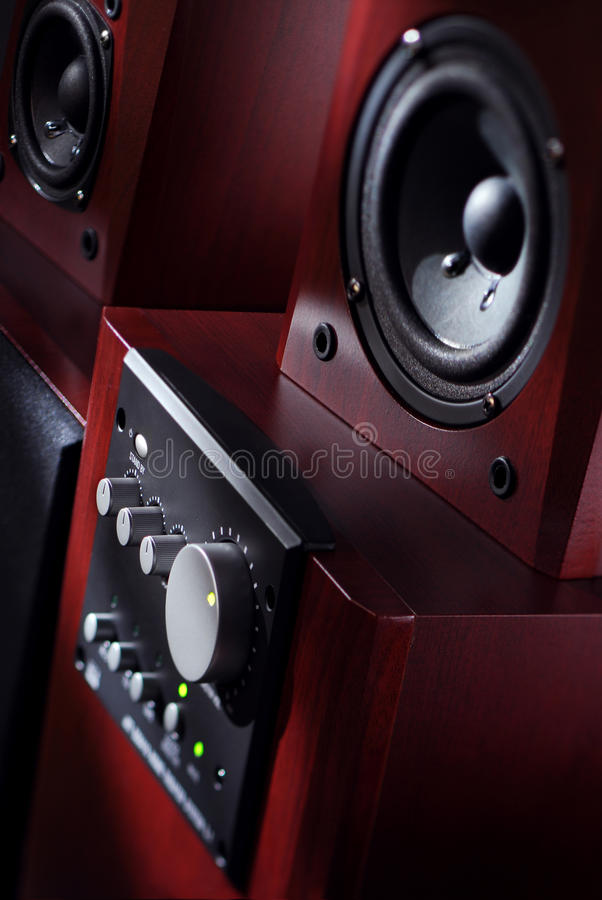 Download Audio system stock image. Image of console, grey, regulator - 27746137