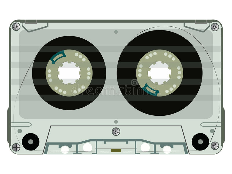 Download Audio Tape Casette Isolated On White Stock Photos - Image: 13799363