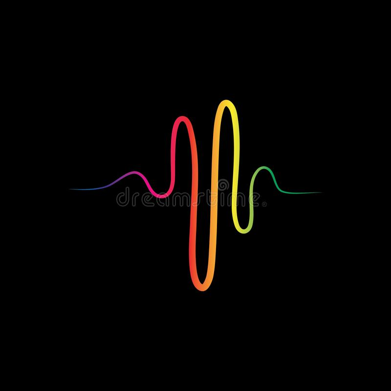 Audio technologia, muzyczna rozs?dnych fal wektoru ikona ilustracji