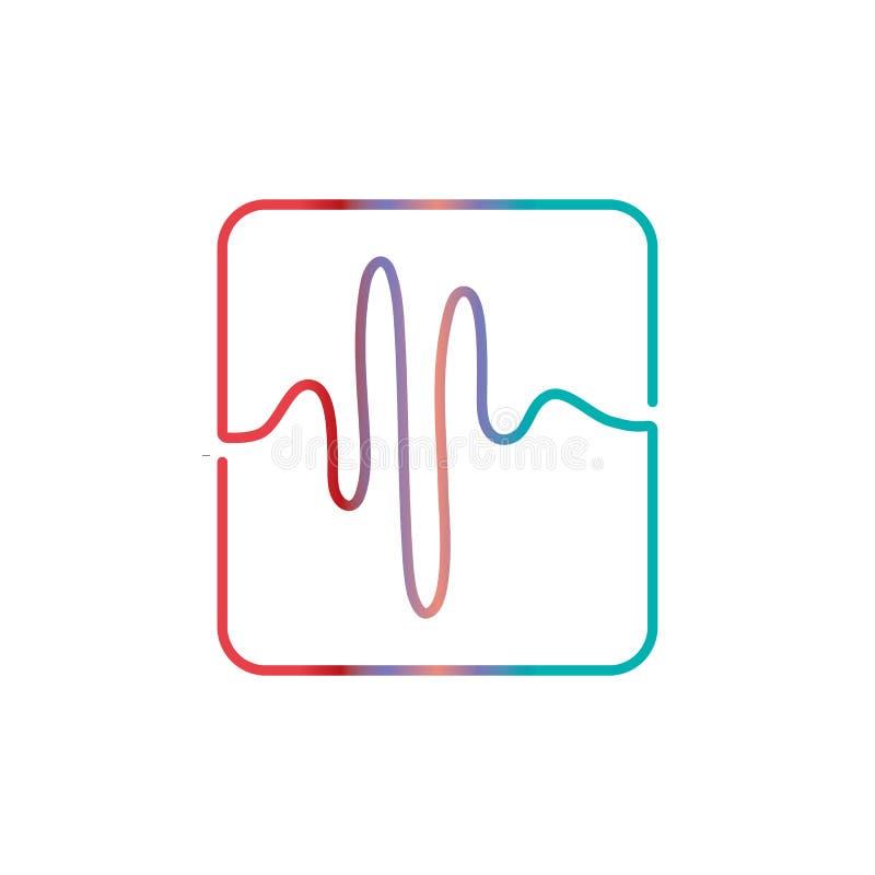 Audio technologia, muzyczna rozs?dnych fal wektoru ikona ilustracja wektor