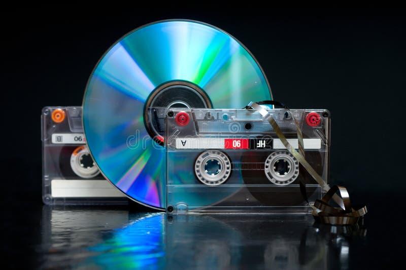 Audio vassoio fotografia stock libera da diritti
